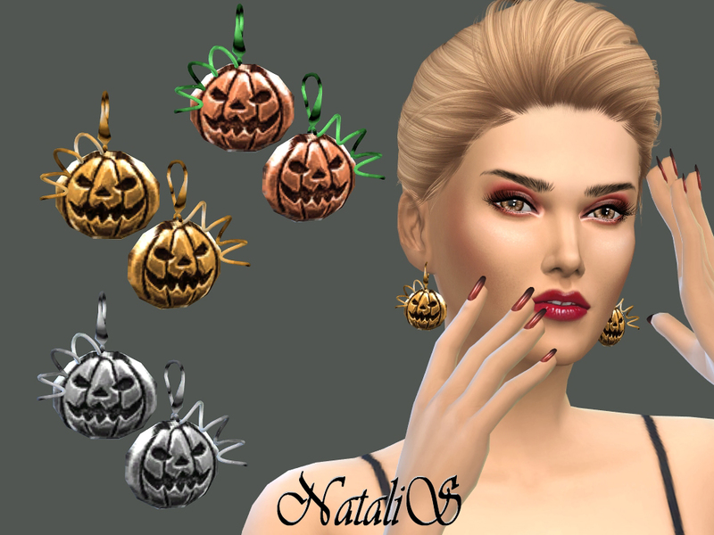 NataliS_Halloween Pumpkin Earrings