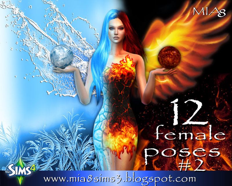 12 female poses#2 by Mia8