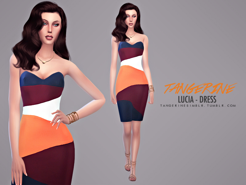 Lucia - Dress  BY tangerinesimblr