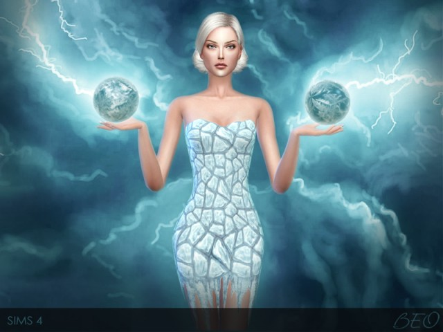 FLAME AND ICE DRESSES by BEO