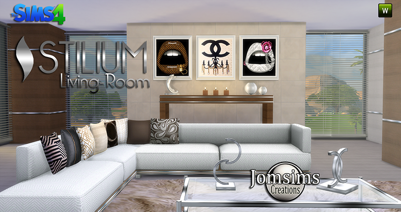 Stilium Living Set by JomSims