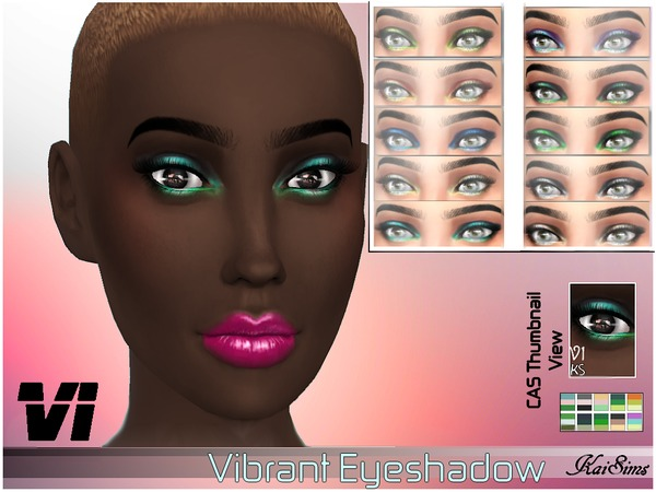 Vibrant Eyeshadow_ V1 by -KaiSims-