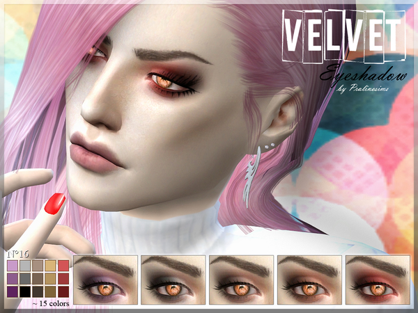 Velvet Eyeshadow  N16 by Pralinesims