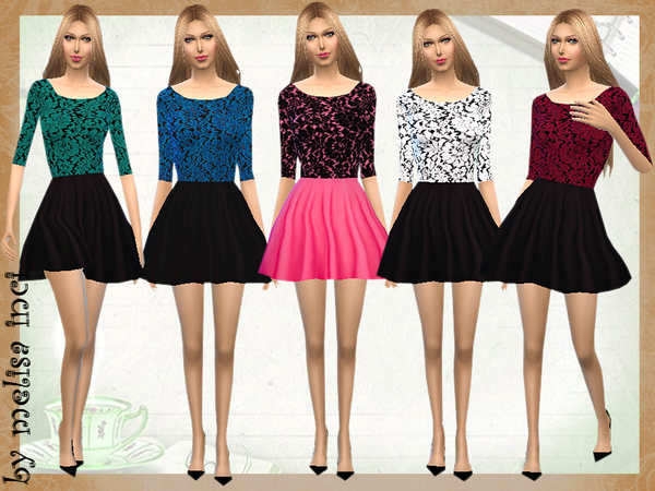 Color Block Lace Dress by melisa inci