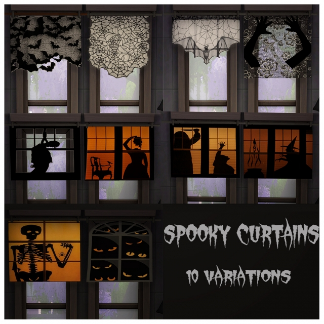 Spooky Curtains - 10 variations by icy-spicy-scalpel