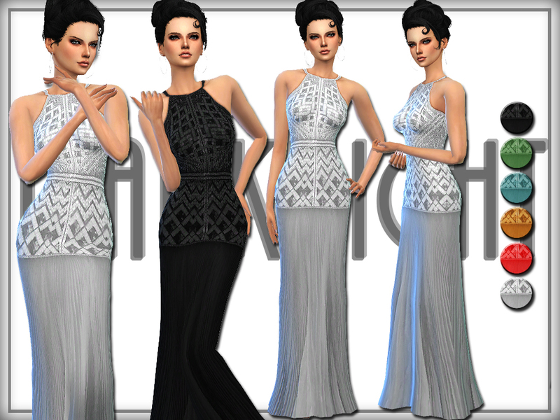 Embellished Pleated Silk-Chiffon Gown BY DarkNighTt