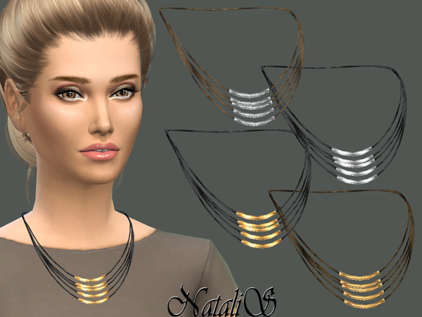 NataliS_Layered rope and metal tubes necklace