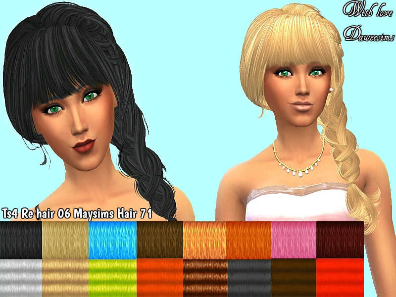 Ts4 Re hair 06 Maysims Hair 71 by Daweesims