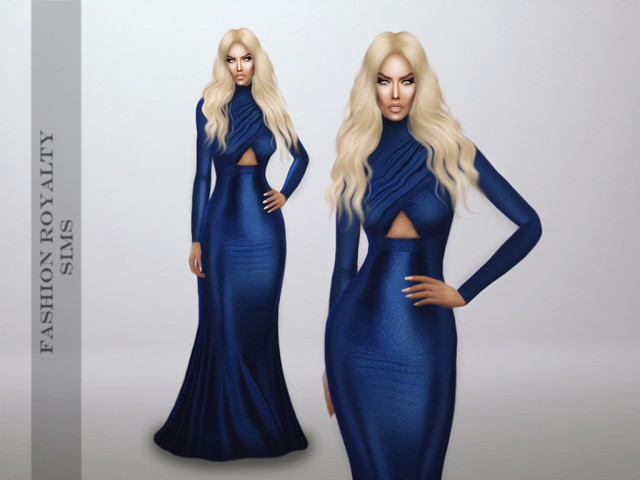 Michael Costello Fall 2014 - Farah Dress by fashionroyaltysims