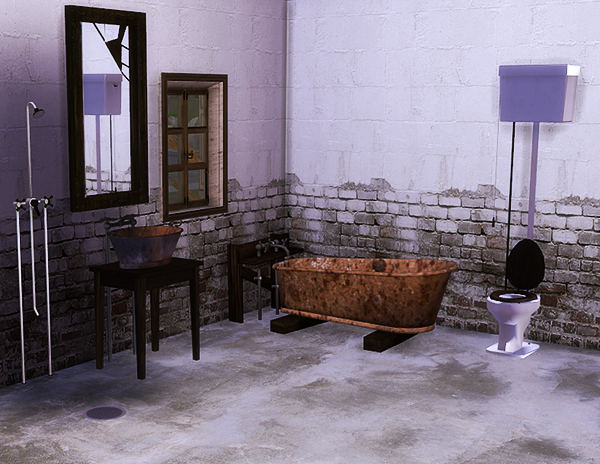 "TS3-TS4 conversion of the amazing Lisens set ""Budget Bathroom"" by sanoysim"