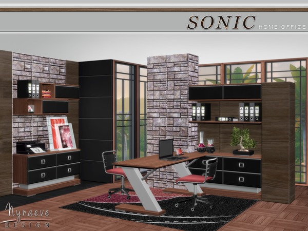 Sonic Home Office by NynaeveDesign
