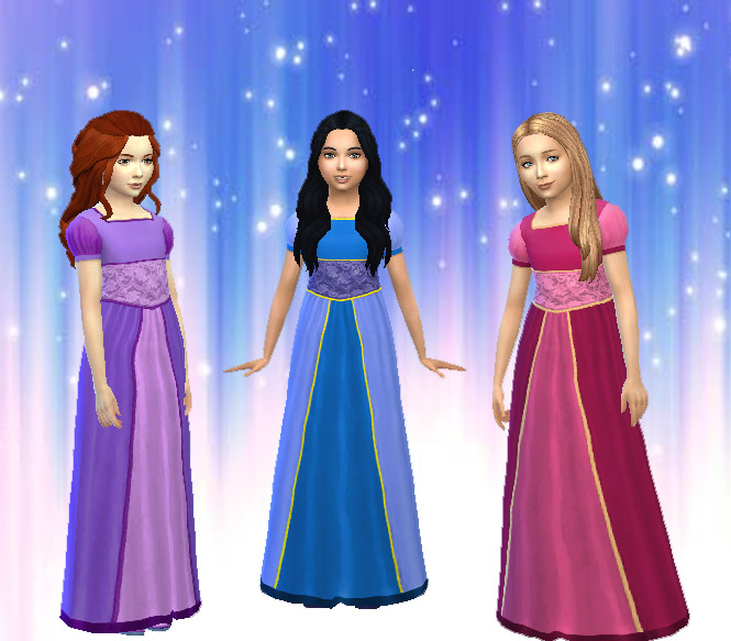 TS2 Dress Conversion for Girls by Kiara24