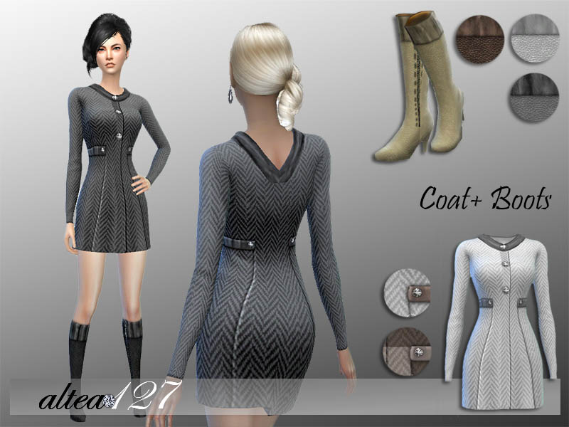 Alexia Coat and Boots for Females by Altea127