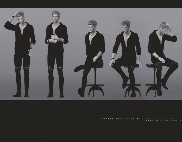 Pose Pack 1with stool by toksik