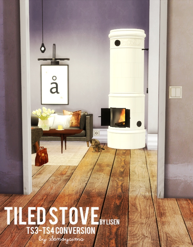 Tiled Stove by sanoysim