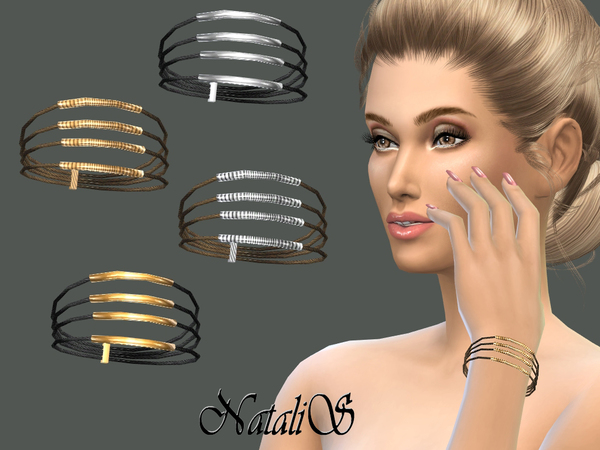 NataliS_Layered rope and metal tubes bracelet