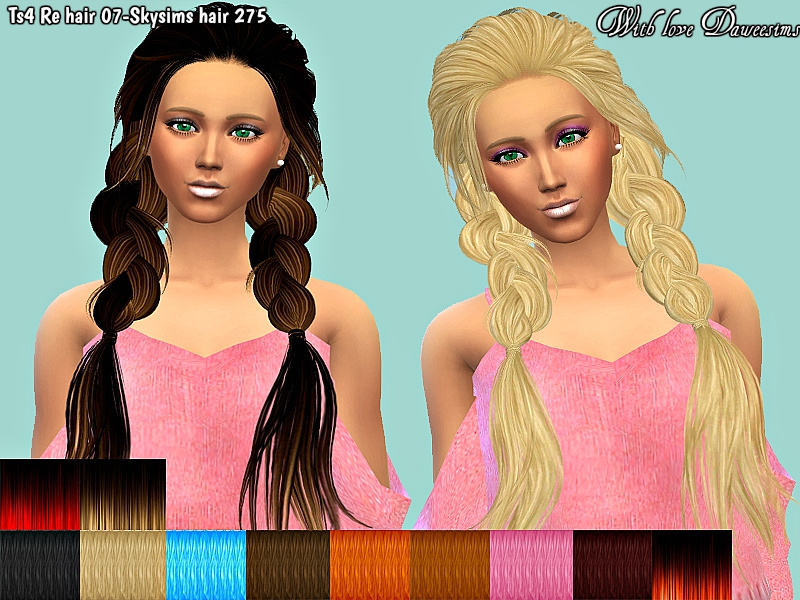 Ts4 Re hair 07-Skysims hair 275 by Daweesims