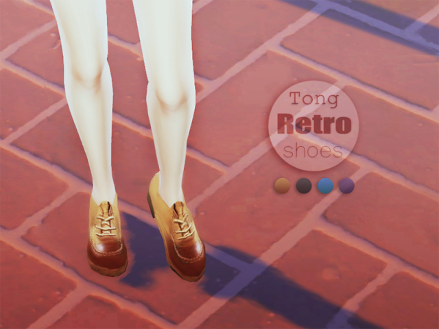 Retro Shoes by Tong