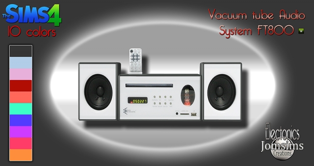 Vacuum Tube Audio System in 10 Colors by JomSims