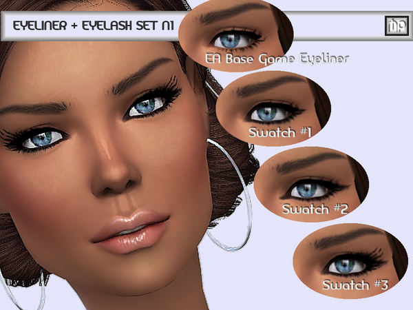 Eyeliner + Eyelash Set N1 by MartyP