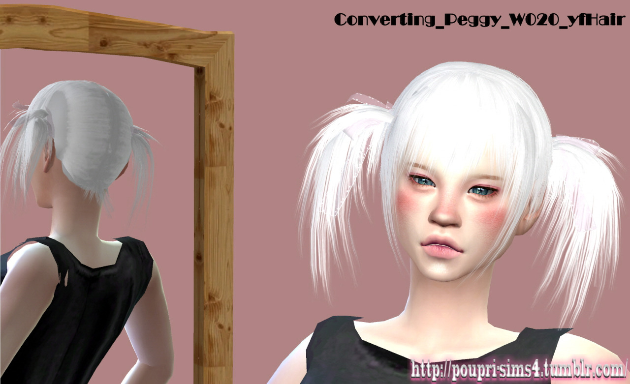 Peggy hair converted by Poupri's sims