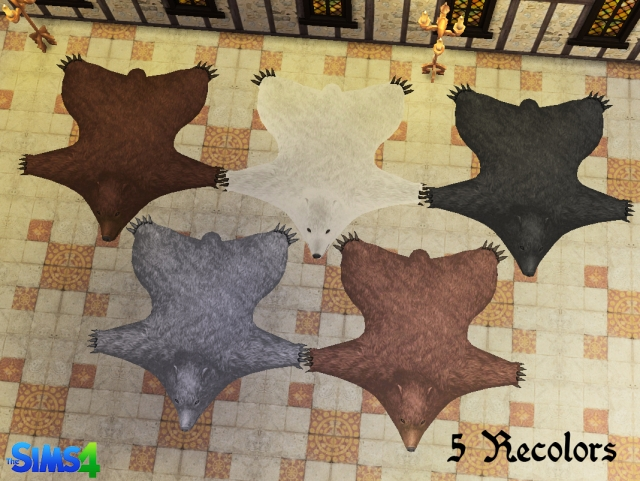 TSM Bear Rug Conversion by HistoricalSimsLife