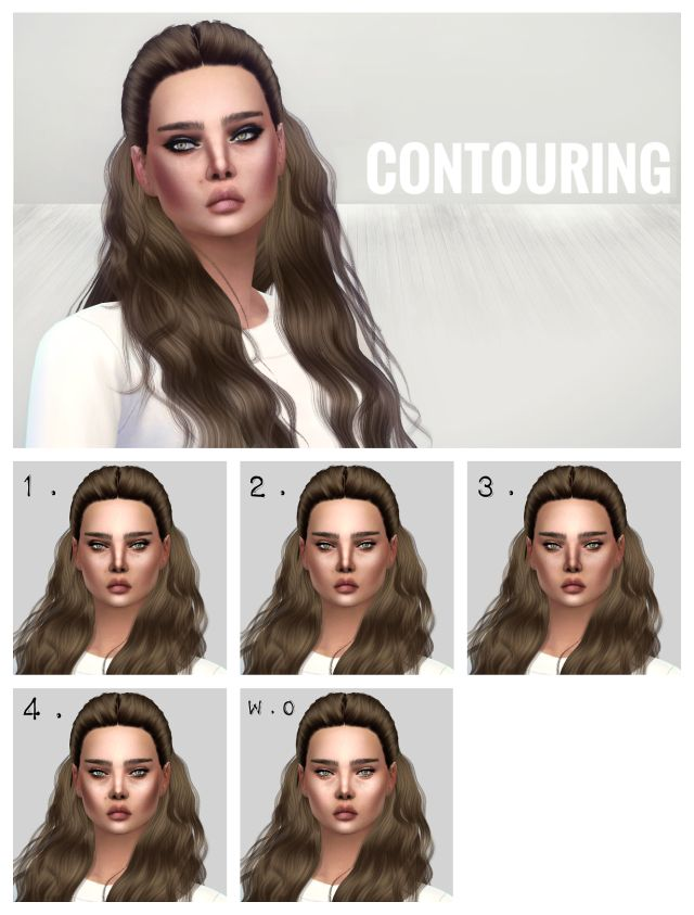 Facial Contouring for Females by EyemythSims