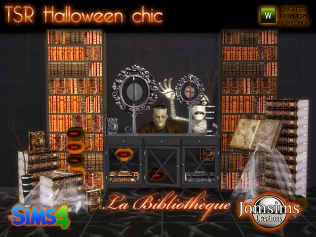 Halloween chic set la bibliotheque by JomSims