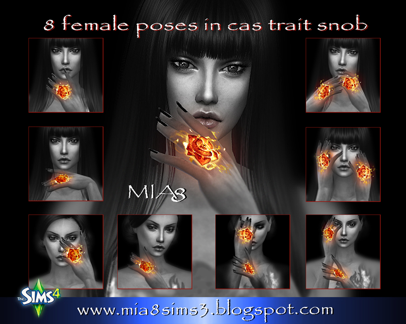 8 female poses#3 by Mia8