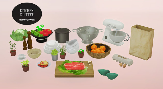 TS2 Kitchen Clutter by Mio