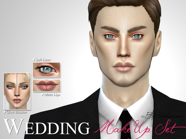 Wedding Makeup Set by Pralinesims