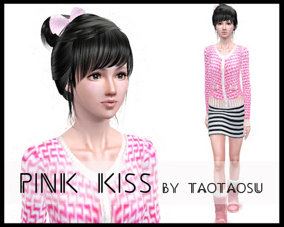Pink kiss sweater by taotaosu