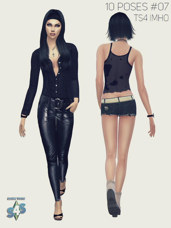 10 Female Poses #07 TS4 by IMHO