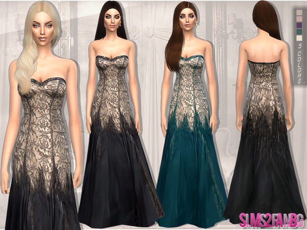 100 - Golden Gown by sims2fanbg