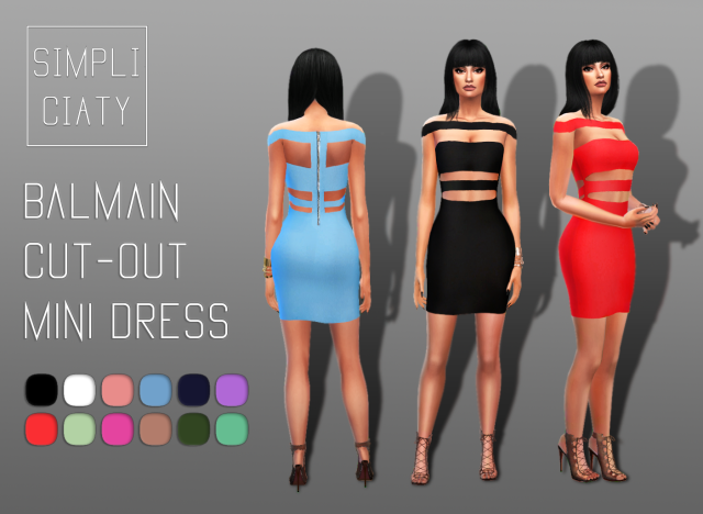 Balmain Cut-out Mini Dress by simpliciaty