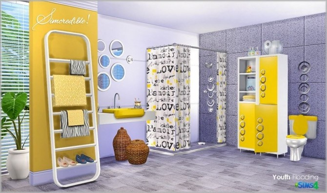 Youth Flooding Bathroom Set by Simcredible Designs