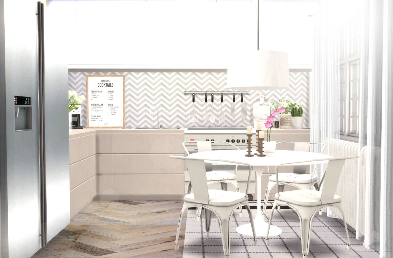 Kitchen Counters & Cabinets Recolors by Hvikis