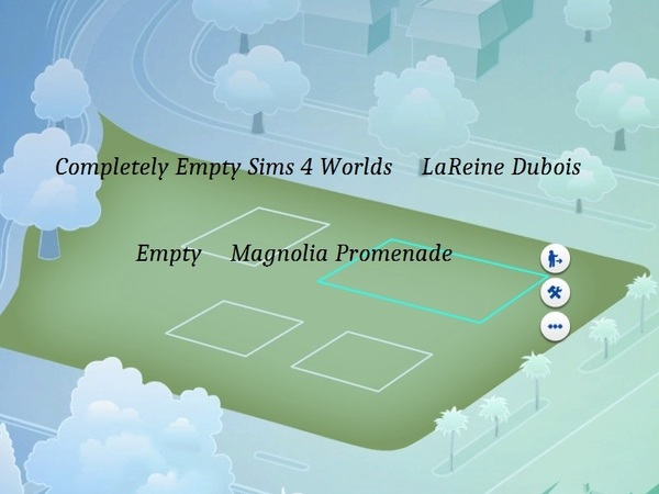 NEW Completely Empty Sims 4 Worlds by LaReineDubois