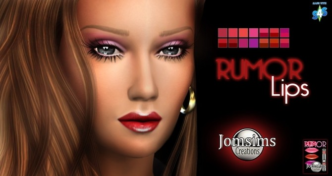 LONG NAILS, EYESHADOW, LASHES AND LIPS AT JOMSIMS