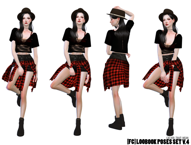 LOOKBOOK POSES SET V.4 by flowerchamber