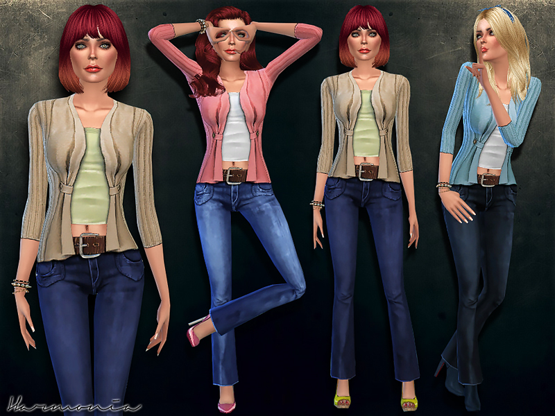 TS4 Fashionable Outfit 03   BY Harmonia