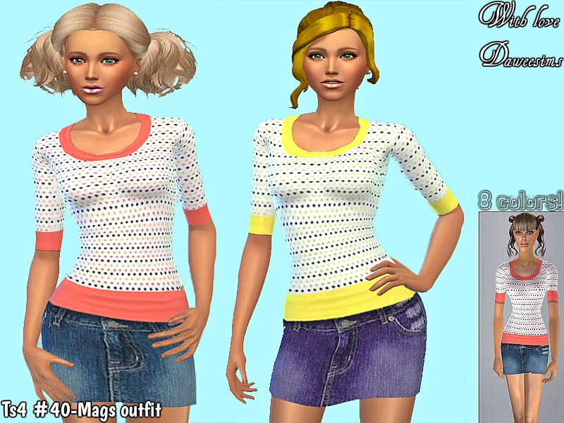 Ts4 #40-Mags outfit by Dawee