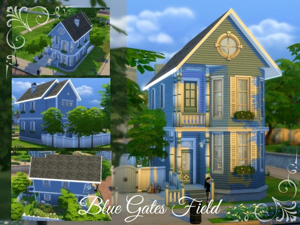 Blue Gates Field Cottage by jujulibelei