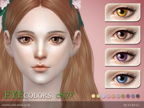 S-Club LL thesims4 eyecolors 17