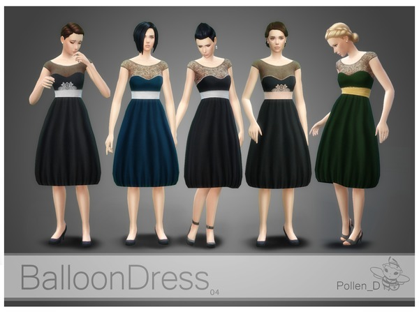 Balloon Style Dress 04 by Pollen_D