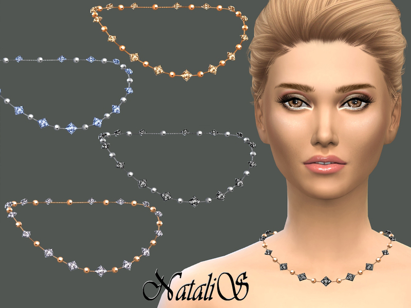 NataliS_Chain with beads and crystals  BY NataliS