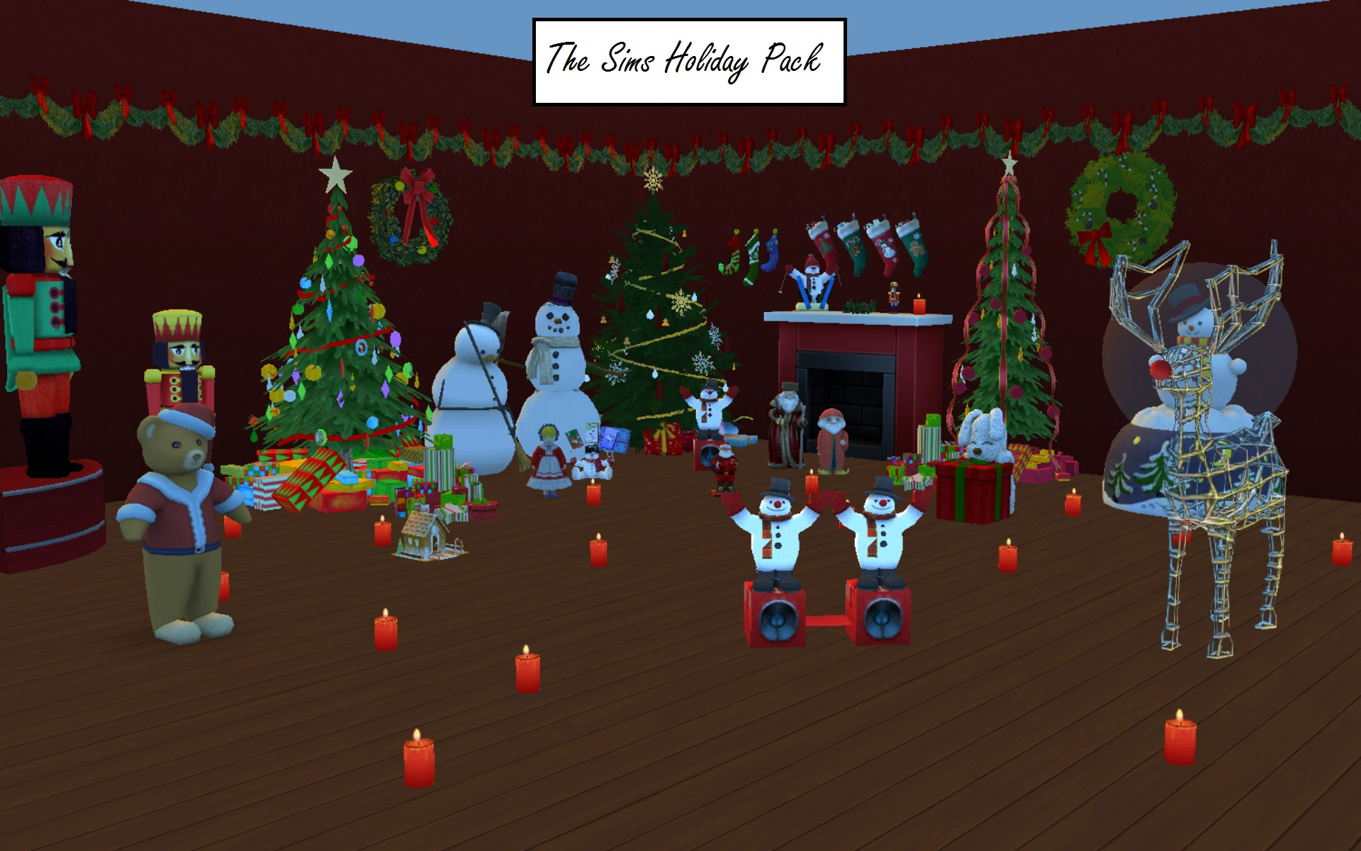 The Sims Christmas Holiday Pack by g1g2