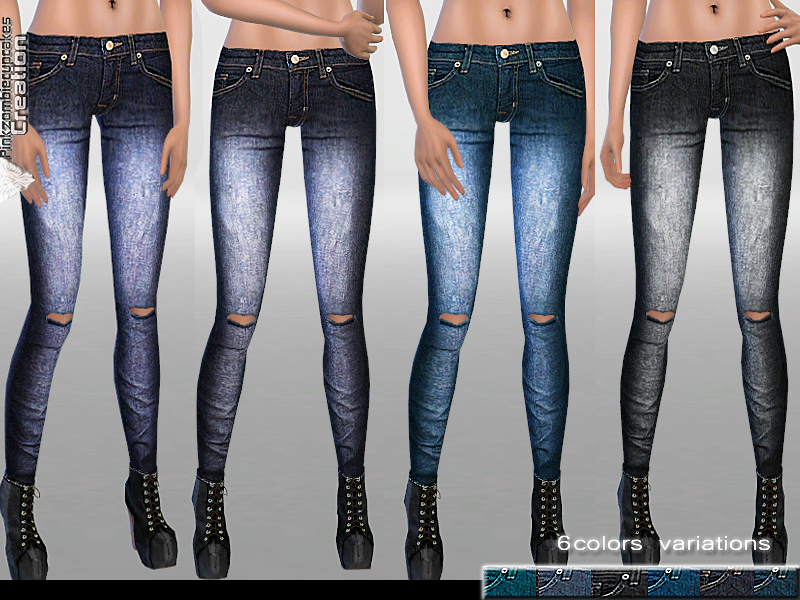 Mid Rise Faded Denim  BY Pinkzombiecupcakes