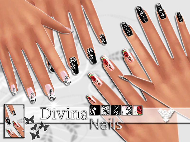 PZC_Divina Nails Collection  BY Pinkzombiecupcakes