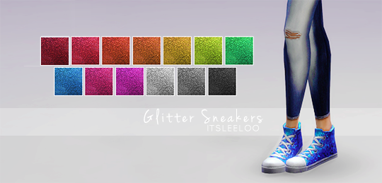 Glitter Sneakers for Females by ItsLeeloo